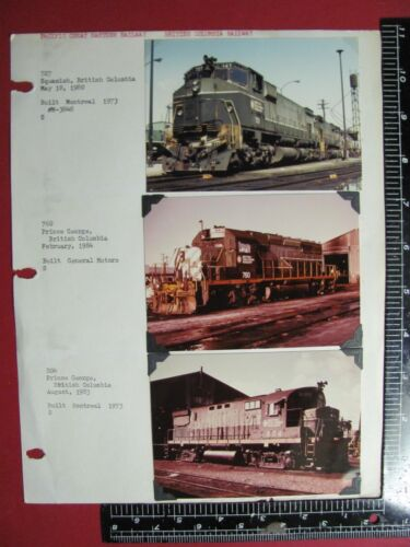 LOT of 6 PHOTOS PACIFIC GREAT EASTERN / BRITISH COLUMBIA RAILWAY LOCOMOTIVES