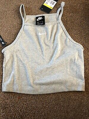 Nike Crop Top  Size Small High NeckGrey Tight Fit New Tagged