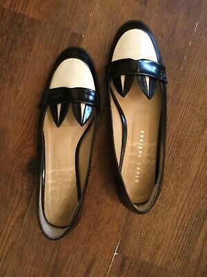 Minna Parikka Bunny Rabbit Ear Black White Loafer Flat size EU 38 US 7.5 EUC