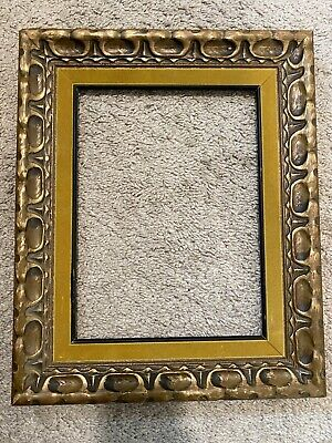 Large Old Picture Frame Lovely Yellowish Patina