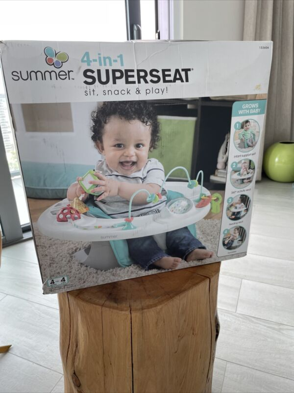 Summer Infant 4-in-1 SuperSeat Activity Center - Teal (13360A)
