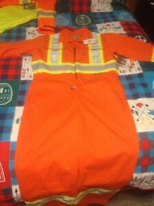 New Hi Vis unlined coverall suit Large size