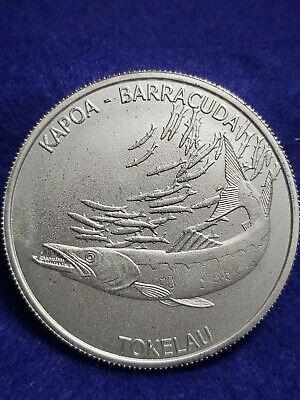 2017 Tokelau Barracuda Silver 1 oz. Coin Uncirculated * L@@K *  SHIPS FREE