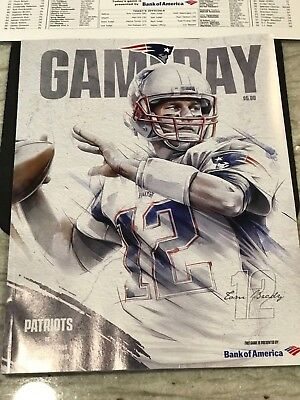 NFL NEW ENGLAND PATRIOTS VS. HOUSTON TEXANS- 9/9/18- GAMEDAY PROGRAM- TOM BRADY