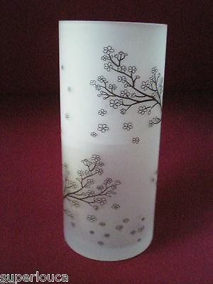 Beautiful Tall Frosted Candle Glass Flower Vase * Tree Branch * 7 1/4 in. Modern