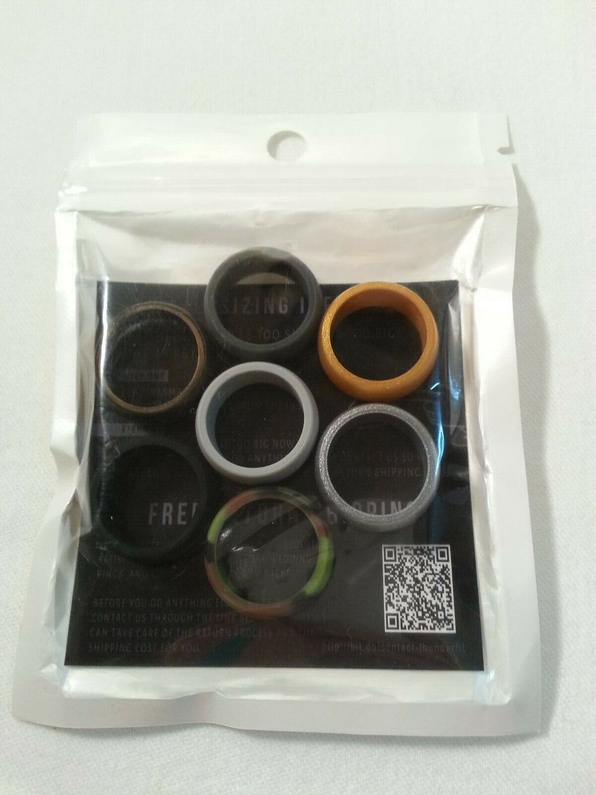 mens silicone rings set of 7 rubber