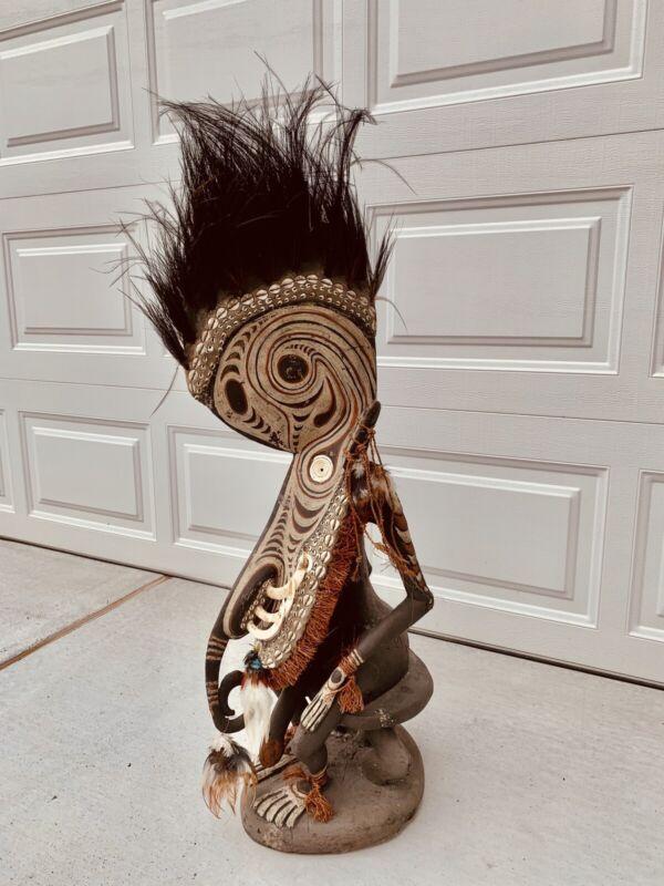 Papua New Guinea Ancestor Figure From Estate