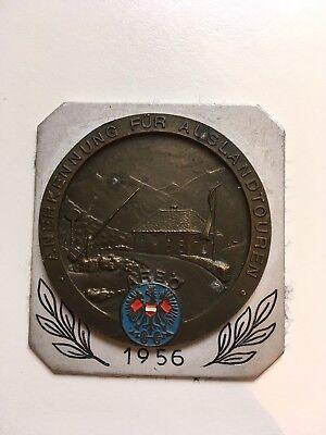 Autoplakette, Anerkennung für Auslandtouren 1956, Arbö, Badge, Oldtimerplakette