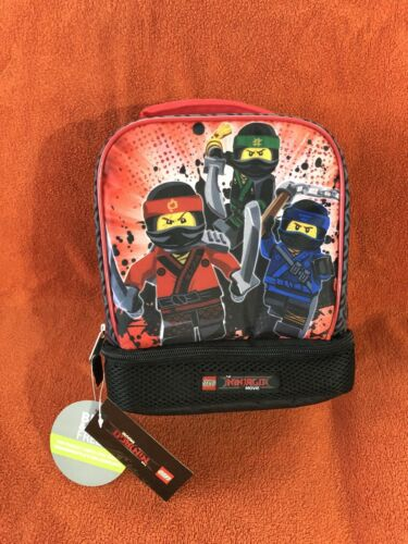 New Lego Ninjago Movie Dual Compartment Soft Lunch Box Bag