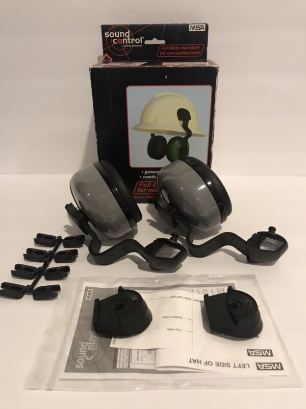 Sound Control NRR 25 10034487 Ear Muffs For Hard Hat -New Open Box-