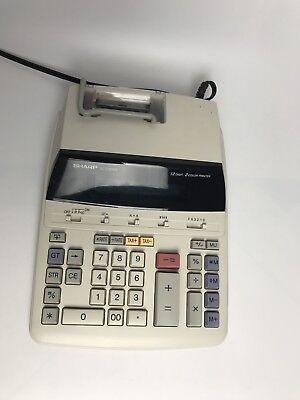 Sharp EL-2192RII Accounting Calculator 12 Digits 2 Color Printing
