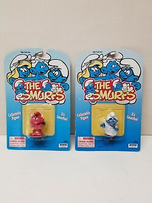 Vintage The Smurfs Red Devil and White Angel MOC Rare Figure PVC Toy Figure - Angel And Devil Halloween