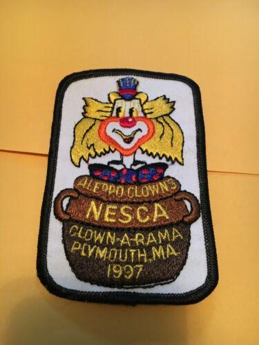 1997 Aleppo Clown a rama - Northeast Shrine Clown Association Patch Plymouth MA