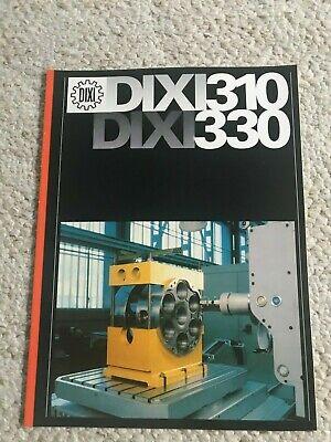 Dixi 310 330 Horizontal Jig Boring Machine Sales Catalog Swiss Made