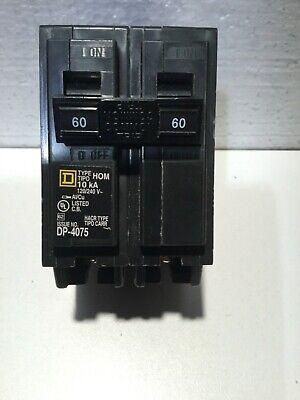New Square D Hom260 Circuit Breaker 60amp 2p 240v