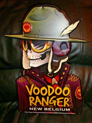 New Belgium Brewing Voodoo Ranger Metal Beer Tacker Sign Craft Beer Brewery New!