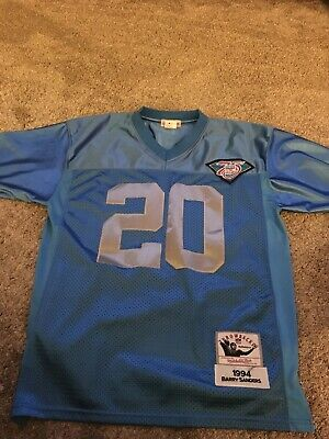 Barry Sanders Detroit Lions Mitchell & Ness 75th Anniversary Football Jersey Mitchell & Ness Football Jersey