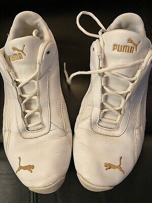 wmns Puma trainers white size 5