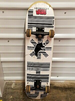 d5d6e9471a Vans Barcode Dog Sh t Design Wood Deck Skateboard With Element Hardware  Chucks