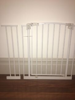 Child safety gate (70cm) x2 with extensions (20cm)  x2