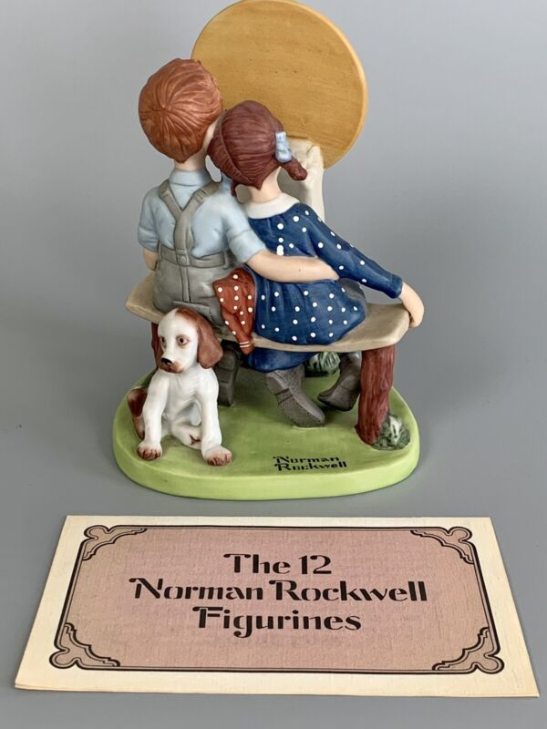 Vintage NORMAN ROCKWELL Danbury Mint YOUNG LOVE Porcelain Figurine 1980