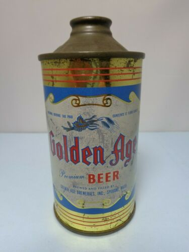 GOLDEN AGE IRTP CONE TOP BEER CAN #166-17  SPOKANE WASHINGTON