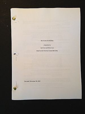 NO COUNTRY FOR OLD MEN Oscar Winning Screenplay by JOEL AND ETHAN COHEN 11/05