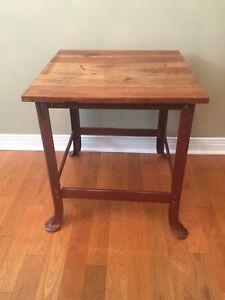 Industrial Style Table - Steel Legs - Wood top