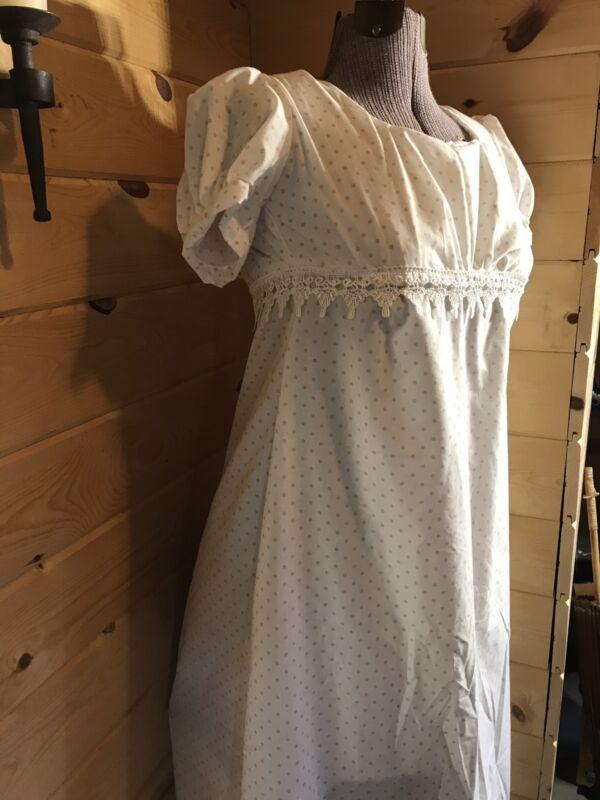 1812  Regency 19th Century Jane Austen regency empire waist colonial Gown