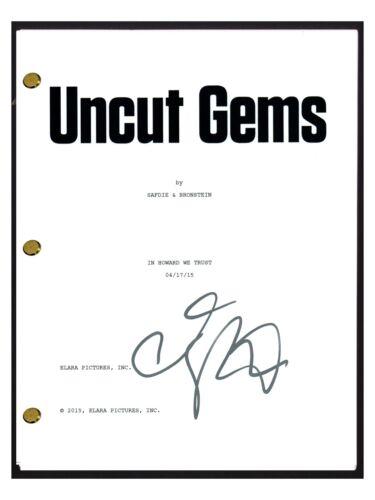 Adam Sandler Signed Autographed UNCUT GEMS Movie Script Screenplay COA