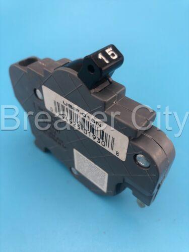 UB Inc / Federal Pacific 15 Amp 1 Pole NC (Thin) Stab-lok NC115 FPE Breaker 120V
