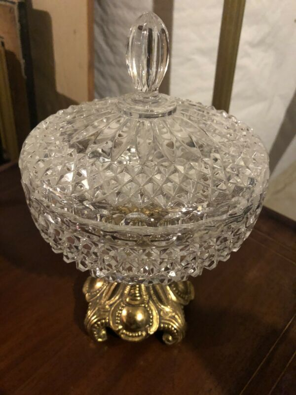 Very Beautiful Antique 1930's-40's Glass Candy Dish