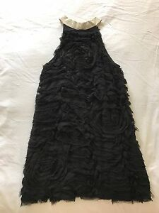 AJE Semi Formal Dress - Black with Body Detailing & White Leather Carina Brisbane South East Preview