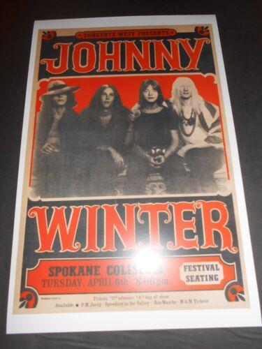 1971 Johnny Winter Rick Derringer Show POSTER Blues Ltd. Edition 250 Numbered