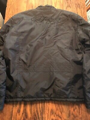 Ed Hardy X Christian Audigier Mens Jacket Quilted Interior XL Logo NM/MINT RARE! Ed Hardy Vest