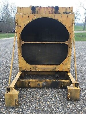 Caterpillar Cat 3508 Stationary Diesel Engine Platform Radiator And Fan
