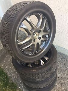 4x100 with low profile tires