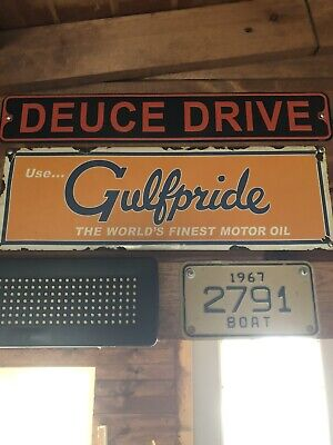 Vintage Porcelain Gas And Oil Golf Pride Sign