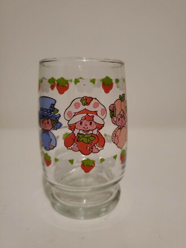 "Strawberry Shortcake Juice Glass. RARE DESIGN.  4""."