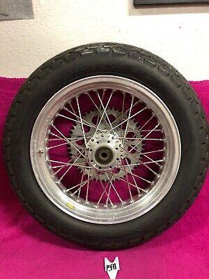 "Akront Rear Wheel Hub Spool Spoke Harley Vintage Chopper 40 Hole Rim 16"" -"