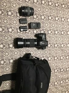 Sony DSLR with zoom lenses