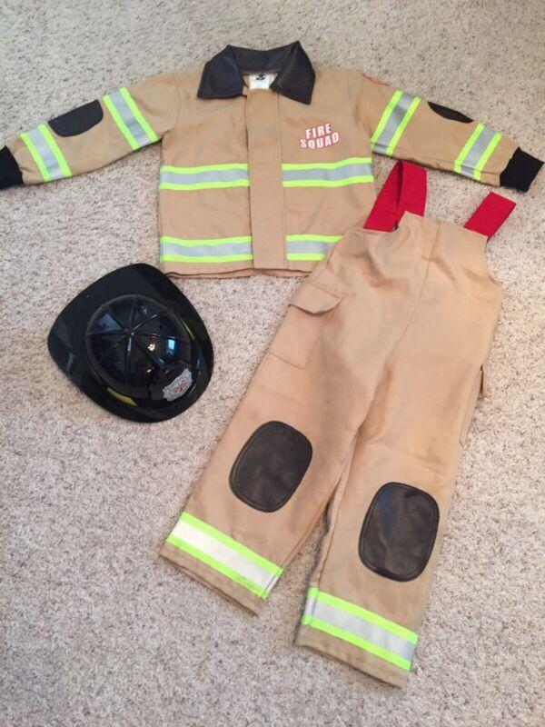 Boys Size 2T-4T Fireman Halloween Costume