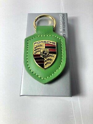 NEW IN BOX OEM PORSCHE CREST genuine GT3 Lizard Green Keyring Key Chain KeyFob