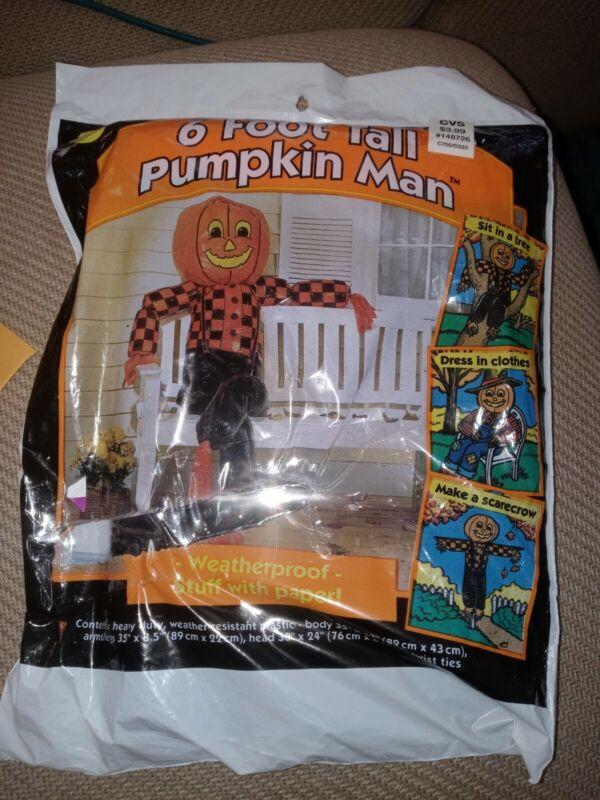 Vintage 1995 Leaf Bag Pumpkin Man 6