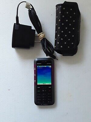 *** Original WORKING Nokia 5310 Xpress Music MP3 FM Cell purple Phone and extras