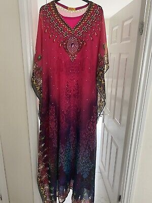 Pink Abaya Designer Pakistani Arab Wedding Party Dress Eid