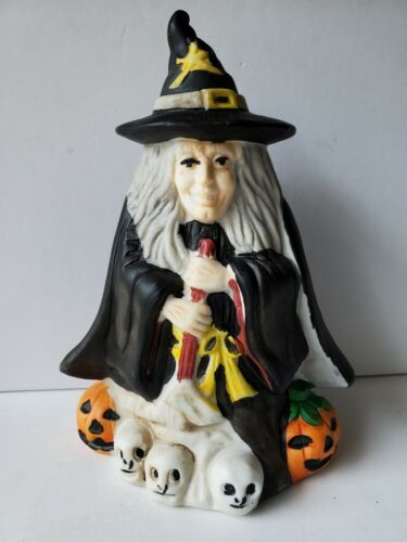 Vintage 1989 ARTMARK Ugly Witch Halloween Music Box with Original Box