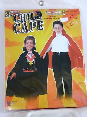 Child's 27 Inch Red Cape With Collar Halloween Dress Up Costume Birthday](27 Dresses Halloween Costume)