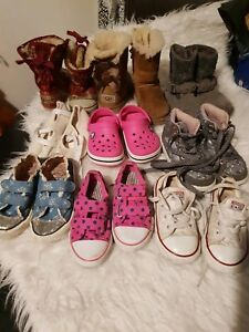 Girls Boots Shoes Uggs hightops trainers Size 8 Bundle NEXT CONVERSE crocks