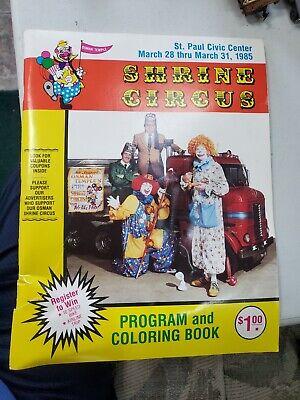 Shrine Circus Program St Paul Civic Center (March 1985)(Used )